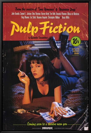 Znalezione obrazy dla zapytania pulp fiction plakat