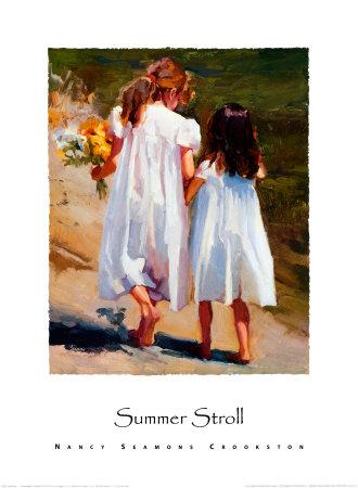 Summer Stroll Art Print