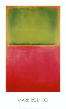 Green, Red, on Orange - Art Print
