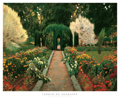 Jardin de Aranjuez Art Print
