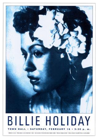Billie Holiday at Town Hall, New York City, 1948 - Art Print