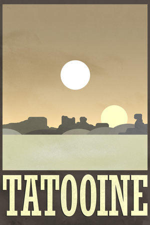 Tatooine Travel Poster Poster