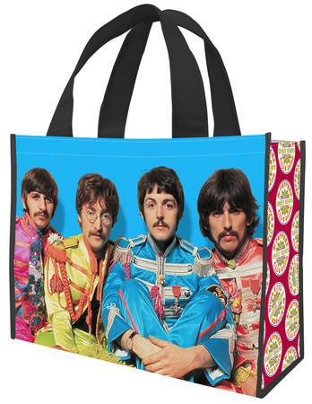 The Beatles Sgt. Pepper's Large Recycled Shopper Tote Bag