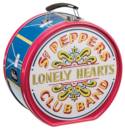 The Beatles Sgt. Pepper's Drum Shaped Tin Lunch Box Lunch Box