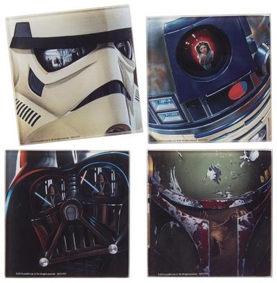 Star Wars 4 Pc. Glass Coaster Set Coaster