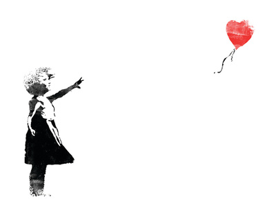 Heart Balloon Art Print
