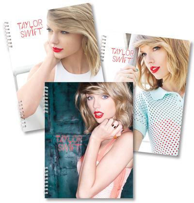 Taylor Swift Spiral Notebooks - Set of 3 Journal
