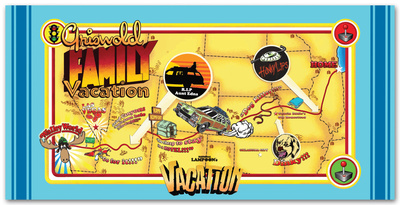 National Lampoon's Vacation - Map Beach Towel Beach Towel