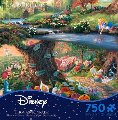 Thomas Kinkade Disney Dreams - Alice in Wonderland 750 Piece Jigsaw Puzzle Jigsaw Puzzle