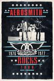 Aerosmith - Rocks Tour Aerosmith, Property of. Est. 1970 Boston, MA Aerosmith Aerosmith Aerosmith - Toys in the Attic Aerosmith - Let Rock Rule World Tour Metal (Heavy Metal Collage) Music Poster Print aerosmith