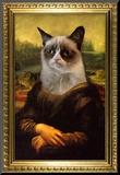 Grumpy Cat Mona Lisa Grumpy Cat Mugshot Humor Poster Grumpy Cat - Shut Up Cats Grumpy Cat- Go Away Summer Cats Grumpy Cat- Happy Face grumpy cat