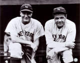 Babe Ruth & Lou Gehrig The Babe Bows Out, 1948 Babe Ruth Red Rock Cola Babe Ruth - No Fear Babe Ruth Striking Out Famous Quote Plastic Sign It's Hard to Beat a Person Who Never Gives Up -Babe Ruth Every Strike Home babe ruth