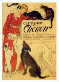 Clinique Cheron, c.1905 Peekapoo (Pekingese X Poodle) Puppy, Ginger Kitten and Sandy Lop Rabbit, Sitting Together Irises and Sleeping Cat, 1990 Paw Prints Tom & Jerry Retro Panels Cuddles (Sleeping Puppy and Kitten) Art Poster Print Dogs and Cats
