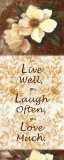 Live, Laugh, Love Words to Live By: Love Is Patient Live, Laugh, Love Live Laugh Love: Sunflower Live, Love and Laugh Live Laugh Love: Sunflower Live Love Laugh Peel & Stick Wall Decals Live Laugh Love (gold foil) Words to Live By: Love Live Every Moment Live Well, Love Much, Laugh Often Live Well-Love Often-Love Much Peel & Stick Single Sheet