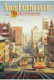The Lindbergh Line, San Francisco, California San Francisco, California - Retro Skyline san+francisco