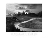 Tetons and The Snake River, Grand Teton National Park, c.1942 Ansel Adams Yellowstone Falls Park Art Print POSTER national parks