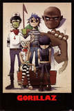 Gorillaz – All Here Red Hot Chili Peppers Rolling Stones Pink Floyd 1972 Carnegie Hall band posters