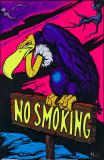No Smoking Magic Valley Wormhole Blacklight Poster Print Timberwolves Flocked Blacklight Poster Mushroom Man Jimi Hendrix - Guitar Solo Yellow Submarine