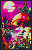 Magic Valley Vertigo Drop Opticz Treehouse Blacklight Poster Jimi Hendrix - Guitar Solo Mushroom Man