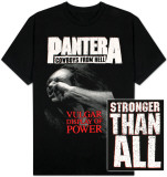 Pantera - Vulgar Display of Power BB King Performing on Stage using Black Les Paul in Grey Suit with White Cuffs and Collar Shirt band shirt