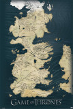 Game of Thrones-Map Game Of Thrones - Antique Map Game of Thrones - Lion & A Dragon Game Of Thrones- House Targaryen Tournament Banner