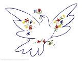 Friedenstaube von Pablo Picasso Bilder  Kunstdruck auf Posterde