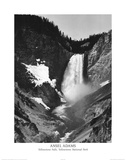 Ansel Adams Yellowstone Falls Park Art Print POSTER national parks