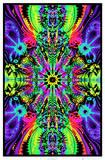 Wormhole Blacklight Poster Print Jimi Hendrix - Guitar Solo Yellow Submarine