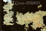 Game of Thrones Horizontal Map Game of Thrones-Map Game Of Thrones - Antique Map Game of Thrones - Sigils Game Of Thrones- House Stark Tournament Banner
