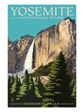 Yosemite Falls - Yosemite National Park, California Half Dome, Yosemite National Park, California Merced River Rafting - Yosemite National Park, California Tetons and The Snake River, Grand Teton National Park, c.1942 Ansel Adams Yellowstone Falls Park Art Print POSTER national parks