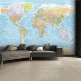 World Map Wallpaper Mural Be Awesome The Muscular System Anatomical Chart Poster Print Rand Mcnally Classic World Map