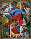 Marvel Comics - Spider-Man (Retro) Amazing Spider-Man No.300 Cover: Spider-Man Fighting and Flying Spider-Man: Homecoming - Spidey The Sensational Spider-Man No.23 Cover: Spider-Man Avengers Classics No.1 Cover: Hulk Marvel Comics Retro Style Guide: Spider-Man, Hulk The Amazing Spider-Man No.601 Cover: Mary Jane Watson Spider-Man 2 Secret Wars No.1 Cover: Captain America The Amazing Spider-Man #700 Cover: Spider-Man, Venom Spider-Man Amazing Spider-Man Family No.2 Cover: Spider-Man Marvel Comics Retro: The Amazing Spider-Man Comic Book Cover No.100, 100th Anniversary Issue (aged)