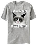 Grumpy Cat - I Had Fun Once It Was Awful Grumpy Cat- Go Away Cats Grumpy Cat Mugshot Humor Poster Grumpy Cat - No Summer Cats grumpy cat