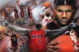 LeBron James Collage Miami Heat NBA Sports Poster Cleveland Cavaliers - Lebron James Cleveland Cavaliers v Brooklyn Nets Denver Nuggets v Cleveland Cavaliers 2016 NBA Finals - Game Two Lebron James- Only Way You Succeed