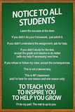 Notice to all Students Classroom Rules Poster USA Map Watch Your Thoughts Motivational Poster The Muscular System Anatomical Chart World Map Be Awesome