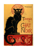 Tournée du Chat Noir, c.1896 Paws Movie Cavapoo (Cavalier King Charles Spaniel X Poodle) Puppy with Rabbit, Guinea Pig and Ginger Kitten Cuddles (Sleeping Puppy and Kitten) Art Poster Print Absinthe Bourgeois Curiosity Poster Advertising an Exhibition of the Collection Du Chat Noir Cabaret at the Hotel Drouot, Paris Curiosity