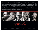 Thinker (Quintet): Peace, Power, Respect, Dignity, Love King Day Martin Luther King Jr. Martin Luther King Jr. MLK St Augustine Boycott 1964 Thinker (Quintet): Peace, Power, Respect, Dignity, Love