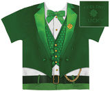 Lucky Leprechaun Costume Tee Menace to Sobriety OctoBEERfest Drinking Evolution
