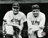 New York Yankees Lou Gehrig #4 and Babe Ruth #3 posed on the dugout steps circa 1932. Babe Ruth in the New York Yankees Dugout at League Park in Clevelenad, Ohio, 1934 It's Hard to Beat a Person Who Never Gives Up -Babe Ruth Babe Ruth - No Fear Striking Out New York Yankees. Yankees Outfielder Babe Ruth Playing Golf, Early 1930s Babe Ruth Red Rock Cola Babe Ruth New York Yankees Lifesize Standup babe+ruth