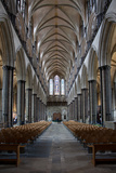 England, Salisbury, Salisbury Cathedral, Interior, Nave, Looking West Salisbury Cathedral Salisbury Cathedral from the Bishop's Garden, 1826