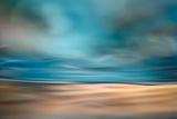 The Beach Blue Lagoon at Dawn Woman When the Morning Wakes