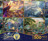 Thomas Kinkade Disney Dreams Collection 4 in 1 500 Piece Puzzle Thomas Kinkade Disney Dreams Collection 4 in 1 500 Piece Puzzle, Series 2 Incredibles 2 - One Sheet Frozen - Collage disney