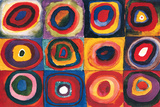 Color Study Squares Yellow-Red-Blue, 1925 Composition VII, 1913 Painting Number 200 Circles in Circle Balancement Mit und Gegen, c.1929 Durchgehender Strich La Forme Rouge, 1938 Merry Structure Delicate Tension (1923) Farbstudie Quadrate, c.1913 Mit Und Gegen