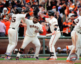 Brandon Crawford, Pablo Sandoval, & Buster Posey celebrate winning Game 3 of the 2014 National Leag Pablo Sandoval Game 4 of the 2014 National League Championship Series Action Pablo Sandoval celebrates winning Game 4 of the 2014 National League Championship Series Hunter Pence & Pablo Sandoval Game 5 of the 2014 World Series Action 2014 MLB World Series Match Up Composite San Francisco Giants vs. Kansas City Royals Pablo Sandoval Double Game 7 of the 2014 World Series Pablo Sandoval Celebrates the final out Game 7 of the 2014 World Series Pablo Sandoval 2014 Action Pablo Sandoval 2014 Action San Francisco Giants 2011 Triple Play Composite San Francisco Giants vs. Detroit Tigers World Series Match-up Composite Pablo Sandoval - San Francisco Giants 2012 World Series MVP