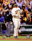 Pablo Sandoval celebrates winning Game 4 of the 2014 National League Championship Series Hunter Pence & Pablo Sandoval Game 5 of the 2014 World Series Action 2014 MLB World Series Match Up Composite San Francisco Giants vs. Kansas City Royals Pablo Sandoval Double Game 7 of the 2014 World Series Pablo Sandoval Celebrates the final out Game 7 of the 2014 World Series Pablo Sandoval 2014 Action Pablo Sandoval 2014 Action San Francisco Giants 2011 Triple Play Composite San Francisco Giants vs. Detroit Tigers World Series Match-up Composite Pablo Sandoval - San Francisco Giants 2012 World Series MVP