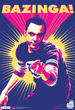 Big Bang Theory Sheldon Bazinga Television Poster big bang theory