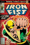 Marvel Comics Retro Style Guide: Iron Fist Iron Fist: The Living Weapon No. 3: Iron Fist, Rand, Danny, Kung, Lei The Immortal Iron Fist No.12 Cover: Iron Fist Swinging