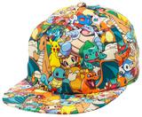 Pokemon - AOP Sublimated Cap Pokemon Group Gradient Snapback