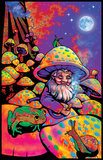 Mushroom Man Timberwolves Flocked Blacklight Poster