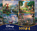 Thomas Kinkade Disney Dreams Collection 4 in 1 500 Piece Puzzle, Series 2 Thomas Kinkade Disney Dreams - The Little Mermaid 750 Piece Jigsaw Puzzle Thomas Kinkade Disney Dreams Collection 4 in 1 500 Piece Puzzle disney